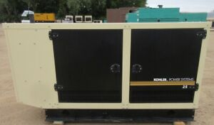 25 Kw Kohler Gm Natural Gas Or Propane Generator Genset Load Tested 2012