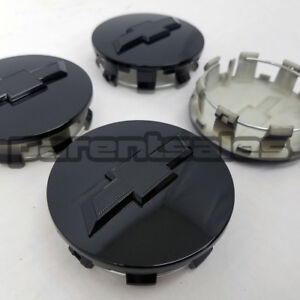 4 83mm 3 25 Chevy Style Center Caps Gloss Black 20 22 24 14 17 Long Clip