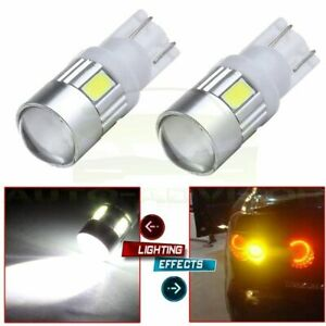 2x Cree 6000k High Power White 921 168 T10 Led Hid License Light Projector Bulb