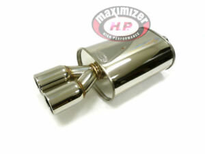 Maximizer High Performance Universal Muffler With Dual Tip Inlet 2 5