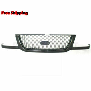 New Fits 2001 2003 Ford Ranger Front Grille Assembly Black 3l5z8200ba Fo1200395