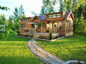 Cabin Tiny House many Styles Movable Pre fab For Your Property lot Part Furn