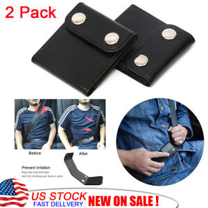 2pcs Seatbelt Adjuster Car Seat Belt Extender Safety Locking Clip Protector Neck