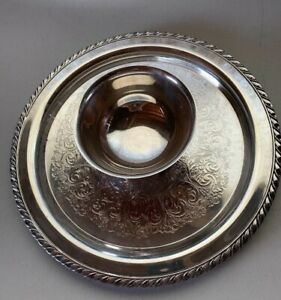 Wm A Rogers By Oneida Ltda Silversmiths Chip And Dip Serving Tray 12