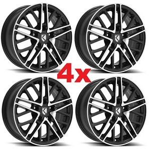 15 Custom Alloy Mag Wheels Rims 15x6 4 Black