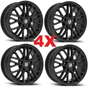 15 Alloy Mag Wheels Rims 15x6 4 Black