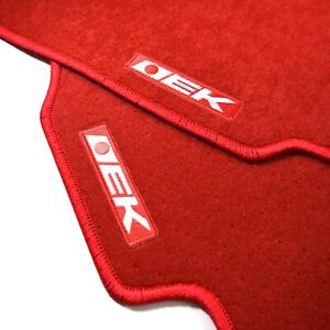 4pc Set Red Custom Floor Mat Non Skid Carpet Fit 96 00 Honda Civic Ek Jdm