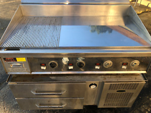Keating 4 Ft Miraclean 220v Chef Base Grill Stand Mirror Clean Restaurant Grill