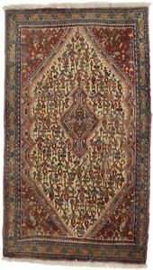 Vintage Hand Knotted Small Abadeh 2x4 Tribal Oriental Area Rug Home Decor Carpet