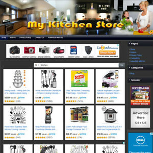 Kitchen Store Premium Affiliate Business Website For Sale Free Domain Name
