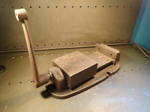 Bridgeport Branded 6 Mill Milling Machine Vise Jaws Open 5 3 4 Usa Used Good