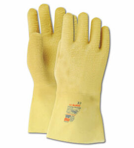 Showa Best Guard Nitty Gritty 2482 Yellow Rubber Coated Gloves 12 Pair