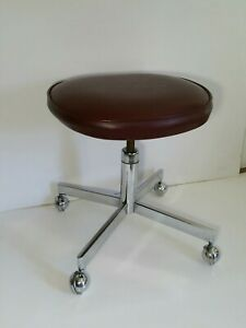 Northfield Metal Products Vintage Industrial Rolling Swivel Stool Mcm Canada
