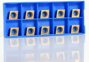 Set Of 10 Pc Tin Coated 1 2 Inserts Ccmt 32 52 With Case