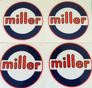 Miller Electric Welder 6 Decals Set Of 4 Oem peel Stick Trailblazer bobcat A