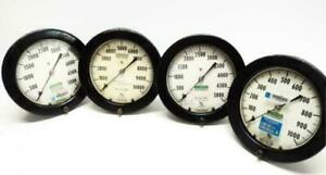 Lot Of 4 Ashcroft Duragauge Assorted Psi Gauge Steampunk