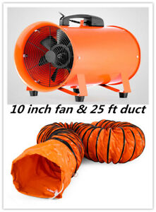 10 Extractor Fan Blower Portable 8m Duct Hose Ventilator Industrial Air Mover