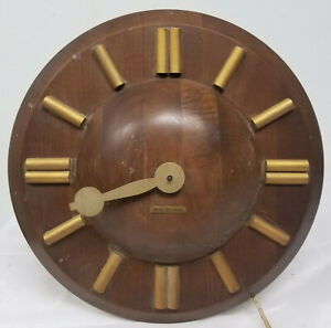 Antique Vintage Mcm Mid Century Modern Seth Thomas Wall Clock As Is