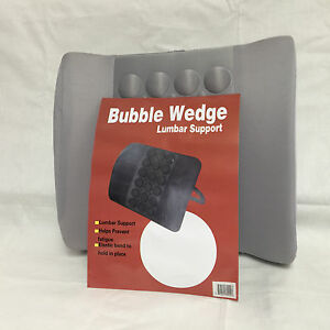 Grey Bubble Wedge Lumbar Back Support Cushion For Auto Car Seats Office Chair