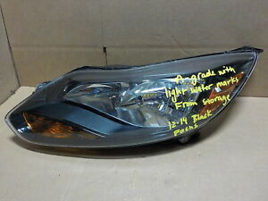 Black Bezel Left Lh Halogen Oem Ford Focus 12 14 Headlight Au2851 A Grade