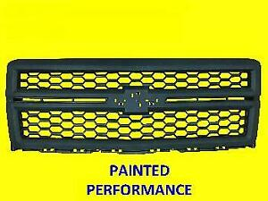 Grille For Chevrolet Silverado 2014 2015 Painted Honey Comb Performance