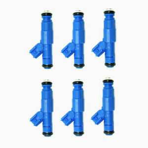 Set Of 6 Bosch Upgrade Fuel Injectors For 2005 2006 Chrysler Town Country 3 8l