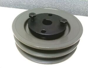 2 Grooves Dual V Belt 2ak46h Cast Iron Pulley With 5 8 Sheave Bushing Od 4 6