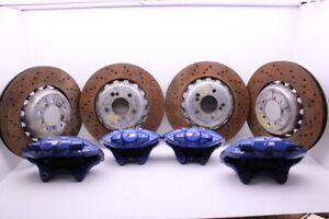 2015 2018 Bmw M2 M3 M4 Brake Caliper Set Front And Rear Brembo Blue