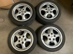Porsche 911 993 Carrera Cup Ii Wheel Set 7x17 9x17 Oem 99336212400 99336212800