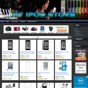 Apple Ipod Store Complete Turnkey Online Affiliate Business Website For Sale