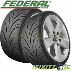 2 New Federal 595rs R 205 50zr15 89w Summer Performance Sport Racing Uhp Tire
