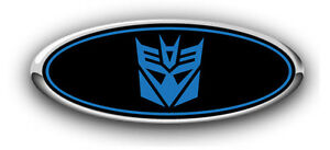 Ford Expedtion 2004 3pc Kit Transformers Decepticon Overlay Emblem Decals B