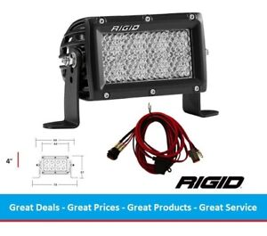 Rigid Industries E series Pro Diffused Flood Optic 4 Inch Led Light Bar