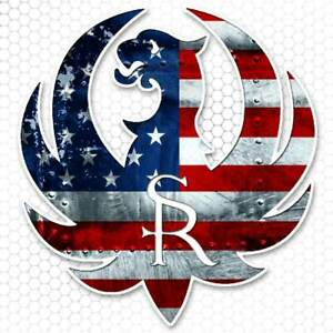 Ruger Sticker American Usa Flag Gun Rights Bumper Decal Tool Box Hunting Truck