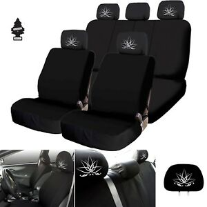 For Ford New Black Car Truck Suv Seat Covers Lotus Design Full Set With Gift