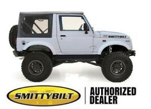 Smittybilt 98615 Oem Replacement Soft Top Black Denim 86 1994 For Suzuki Samurai