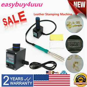 110v Hot Foil Stamping Machine Digital Embossing Pvc Leather Bronzing Printing
