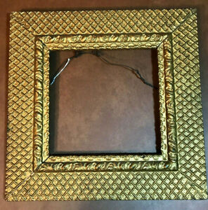 Antique Vintage Gold Gesso Picture Frame 17x17 For 10x10 Picture
