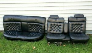 Nice 77 92 Cadillac Fleetwood Brougham D elegance Deville Leather Seats Black