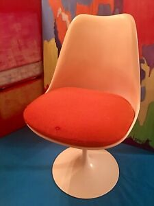 Vintage Eero Saarinen Tulip Chair For Knoll With Label Mid Century Classic