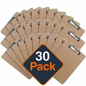 Clipboards 30 Pack By Office Solutions Direct Eco Friendly Hardboard Clipboards