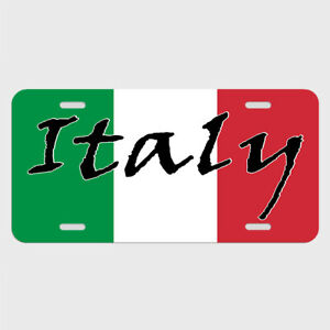 Italy Italian Flag License Plate Tag Metal Car Automobile Lst008