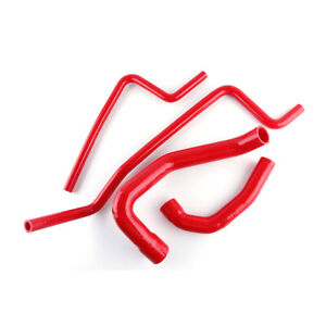 For Jeep Wrangler Tj 4 0l 1997 1998 1999 2000 2001 Red Radiator Silicone Hose