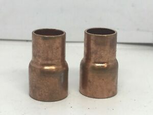 lot Of 2 Copper Reducer 1 2 X 3 8 Coupling