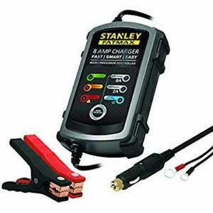 Stanley Fatmax 8 Amp Battery Charger Maintainer Bc8s