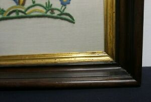 Antique Victorian Walnut Shadow Box Deep Well Picture Frame W Good Gold 20 X 15