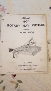 Ford 1968 60 Rotary Hay Cutters Series 505 Parts Book