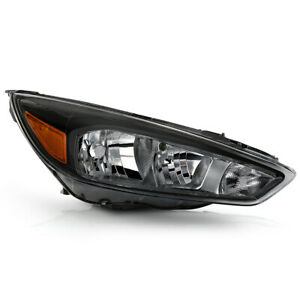 Right Passenger Side For 15 18 Ford Focus Replacement Headlight Lamp Direct Fit