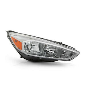 Right Passenger Rh Side For 15 18 Ford Focus Chrome Headlight Replacement Lamp