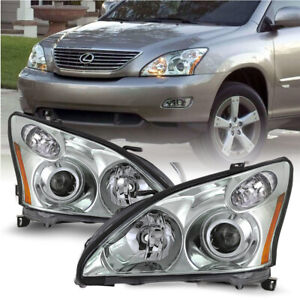 Chrome Projector Headlights For Lexus 04 09 Rx330 Rx350 Hid xenon W o Afs Model